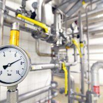 Messuhr bei Versorgungsleitungen // controll panel