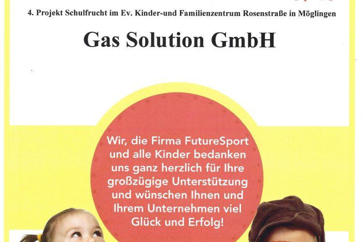 Gas Solution GmbH unterstützt Schulfrucht FutureSport